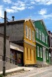 Maisons colorées, Valparaiso Photographie stock libre de droits