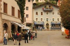 Maisons décorées dans la vieille ville Berchtesgaden l'allemagne Photographie stock libre de droits