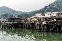 Maisons d'échasse de village de pêche de Tai O en Hong Kong Images libres de droits