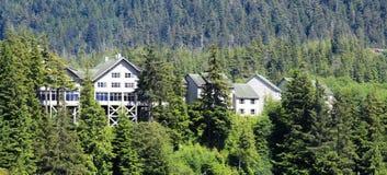 Maisons d'Alaska Photographie stock libre de droits