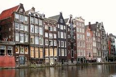 Maisons d'Amsterdam Image libre de droits