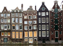 Maisons d'Amsterdam Images libres de droits