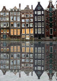 maisons d'Amsterdam images stock