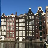 Maisons d'Amsterdam image stock