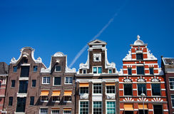 maisons d'Amsterdam Photographie stock