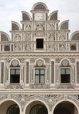 Maisons d'héritage de l'UNESCO de Telc photographie stock