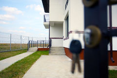 Maisons d'immeubles?, appartements à vendre ou pour le loyer Photos libres de droits