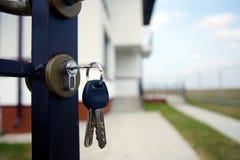 Maisons d'immeubles?, appartements à vendre ou pour le loyer Images libres de droits