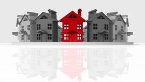 Maisons d'immeubles?, appartements à vendre ou pour le loyer illustration libre de droits