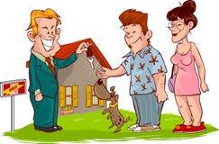 Maisons d'immeubles?, appartements à vendre ou pour le loyer illustration de vecteur