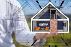 Maisons d'immeubles?, appartements à vendre ou pour le loyer Photographie stock