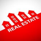 Maisons d'immeubles?, appartements à vendre ou pour le loyer Illustration courante Photographie stock