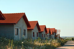 Maisons d'immobiliers Photographie stock