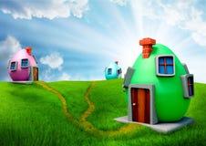 Maisons d'oeufs de pâques