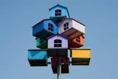Maisons d'oiseau Image libre de droits