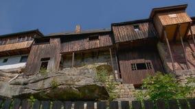 Maisons d'oiseau dans la ville Ustek, République Tchèque Photo libre de droits