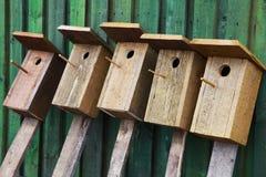 Maisons d'oiseaux Photos libres de droits