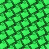 maisons 3d vertes Photo libre de droits