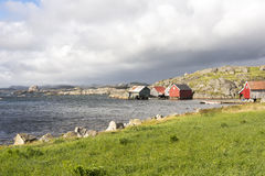 maisons dans Eirersund Fyr Images stock