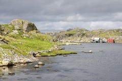 maisons dans Eirersund Fyr Photos libres de droits