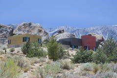 Maisons dans les montagnes Images libres de droits