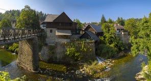 maisons dans Rastoke Image libre de droits