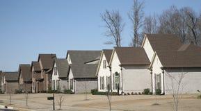 Maisons dans un voisinage riche Photographie stock