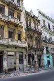 Maisons de émiettage - La Havane, Cuba Images libres de droits