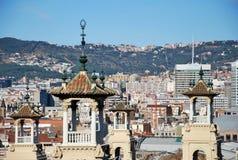 Maisons de Barcelone Image stock