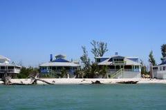 Maisons de bord de la mer Images libres de droits