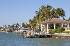 Maisons de bord de mer en Floride photographie stock libre de droits
