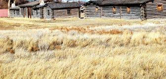 Maisons de cabine de log. photo stock