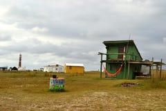 Maisons de Cabo Polonio Photo libre de droits