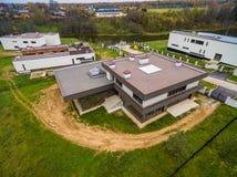 Maisons de campagne modernes en construction Images stock