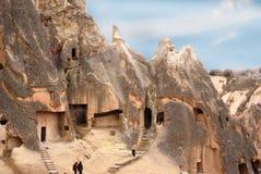 Maisons de caverne dans Cappadocia, Turquie images libres de droits
