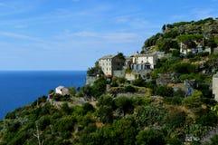 Maisons de Cliffside Photos libres de droits