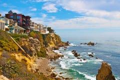 Maisons de Corona del Mar Images libres de droits