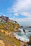 Maisons de Corona del Mar Photographie stock