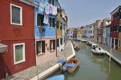 Maisons de couleur Images stock