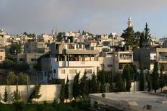 Maisons de flanc de coteau à Bethlehem photo stock