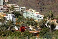 Maisons de flanc de coteau de Gomera de La Photo libre de droits