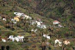 Maisons de flanc de coteau de Gomera de La Photos stock