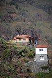 Maisons de flanc de coteau de Gomera de La Images libres de droits