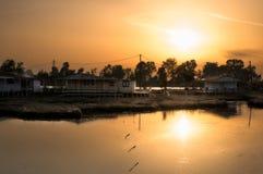 Maisons de flottement de Missolonghi Photo libre de droits