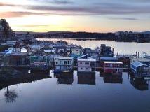 Maisons de flotteur dans Victoria Photos libres de droits