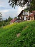 2 maisons de forêt images stock