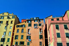 Maisons de Gênes Photo libre de droits