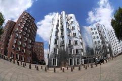 Maisons de Gehry à Duesseldorf images stock