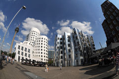 Maisons de Gehry à Duesseldorf photos stock