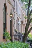 Maisons de grès de Brooklyn Image libre de droits